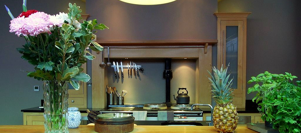 LED lit garden in Hants