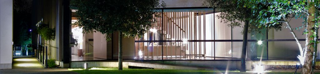 Modern house frontage lighting