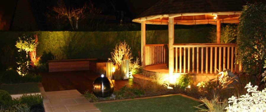 Breeze house exterior lighting