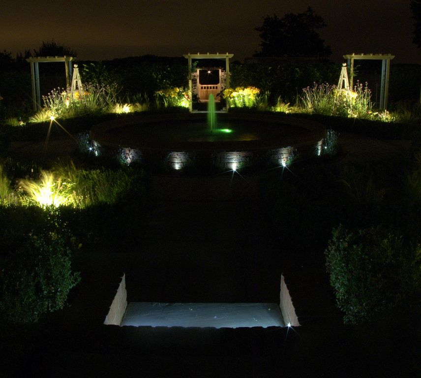 Formal garden and pond lighting