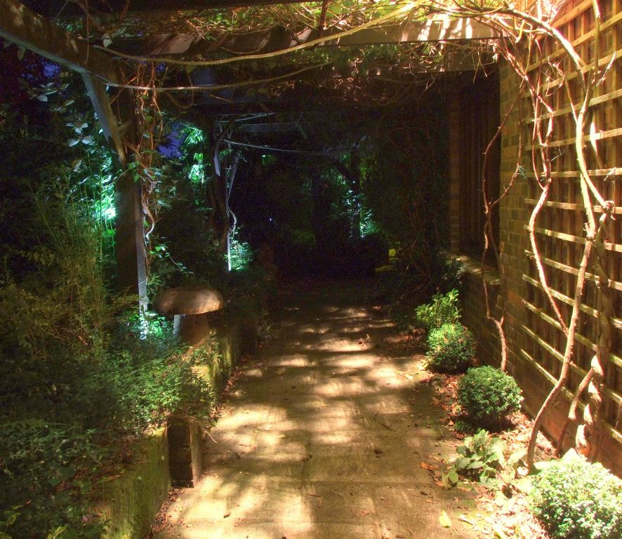 Pergola walkway lighting